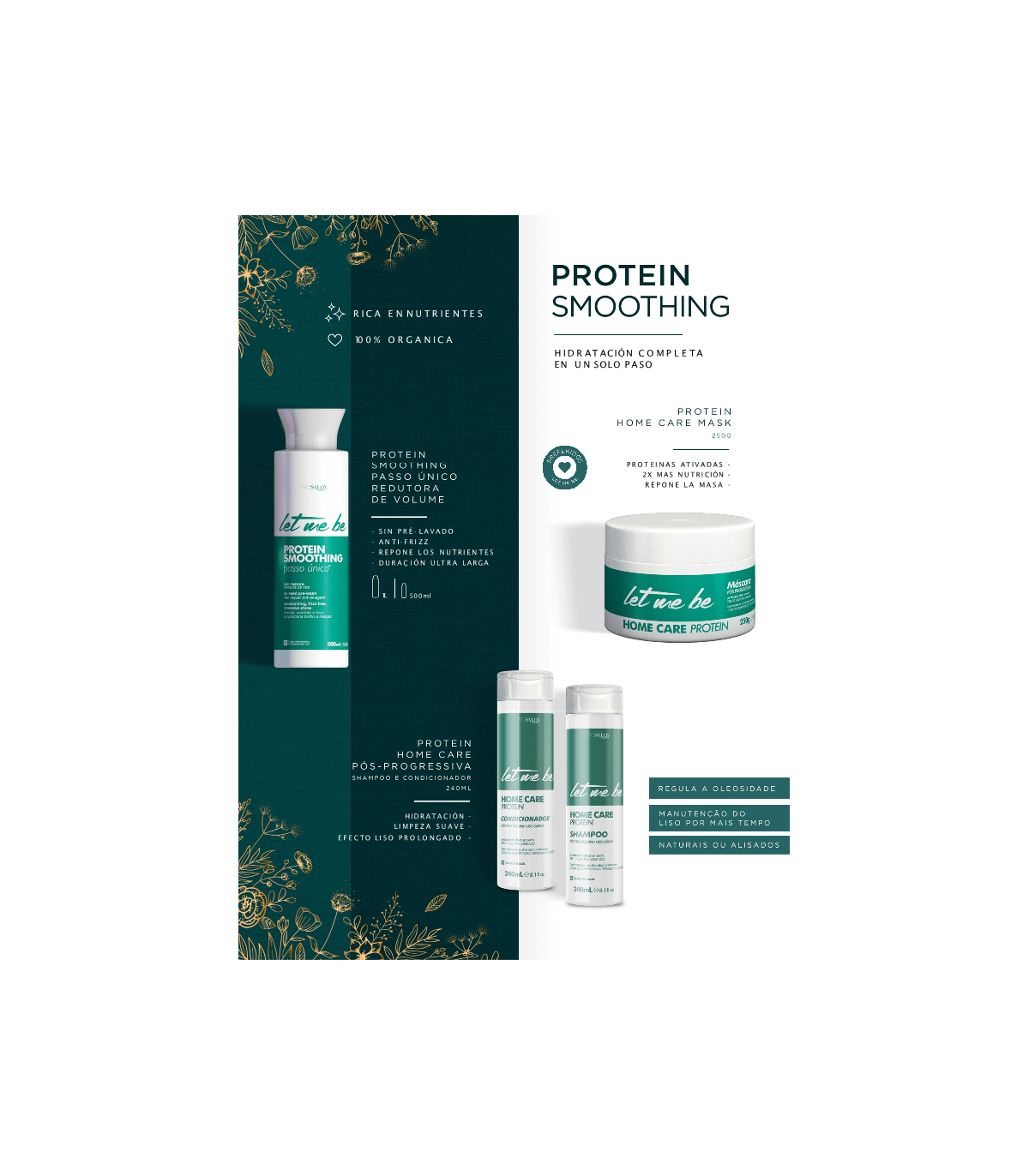 Champu Smooting protein Letmebe 240ml